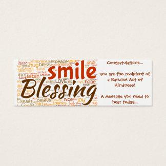 Tarjeta de la bendición (acto al azar de la tarjetas de visita mini