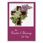 TARJETA de la bendición de Pascua