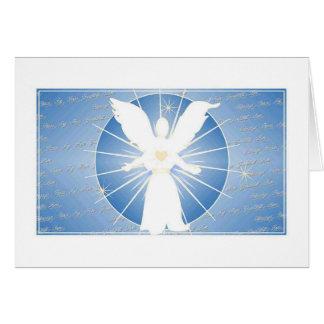 Tarjeta de la bendición del ángel del navidad