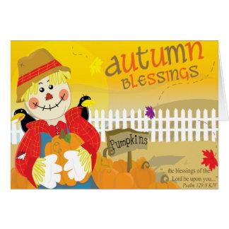 Tarjeta de la bendición del otoño