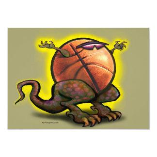 """Tarjeta de la bestia del baloncesto invitación 5"""" x 7"""""""
