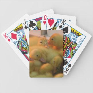 Tarjeta de la bicicleta de la pila del polluelo de cartas de juego