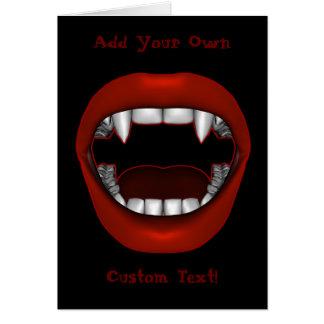 Tarjeta de la boca del empeine