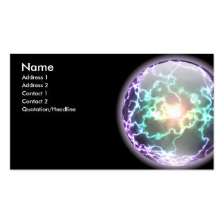 Tarjeta de la bola del relámpago que brilla tarjetas de visita