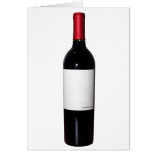 Tarjeta de la botella de vino (etiqueta en blanco)