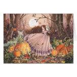 Tarjeta de la bruja del Faery del otoño