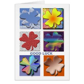 Tarjeta de la buena suerte