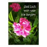 Tarjeta de la buena suerte de la cirugía de la cad