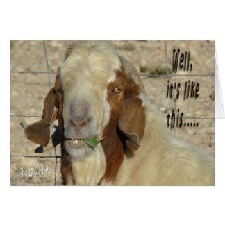 Tarjeta de la cabra de Billy para cualquier