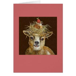 tarjeta de la cabra del bebé