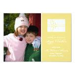 Tarjeta de la caja de regalo del navidad (oro de comunicado personal
