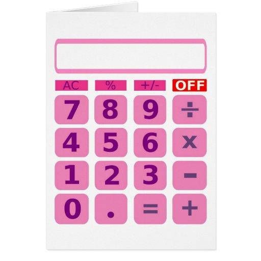 Tarjeta de la calculadora