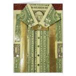 Tarjeta de la camisa del dólar del dinero del cump