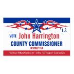 Tarjeta de la campaña política - comisión del cond tarjetas de negocios