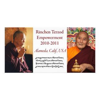 Tarjeta de la capacitación de Rinchen Terzod Tarjeta Con Foto Personalizada