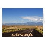 Tarjeta de la carretera del desierto