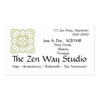 Tarjeta de la carrocería de la manera del zen tarjetas de visita