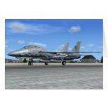 Tarjeta de la caza a reacción de F14 Tomcat