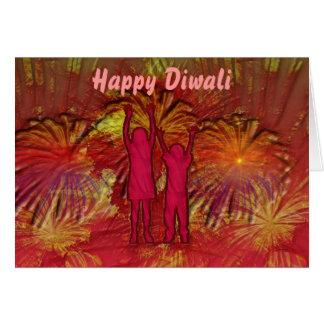 Tarjeta de la celebración de Diwali