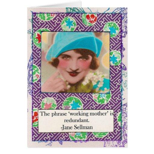 Tarjeta de la cita de la maternidad de Jane Sellma