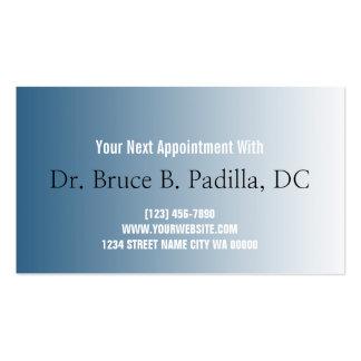 Tarjeta de la cita de la salud del Chiropractor Tarjetas De Visita