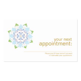Tarjeta de la cita de la salud y de la salud de tarjetas de visita