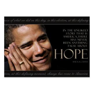 Tarjeta de la cita de Obama Tarjetas De Visita Grandes