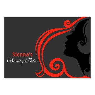 Tarjeta de la cita del peluquero (firebrick) tarjetas de visita