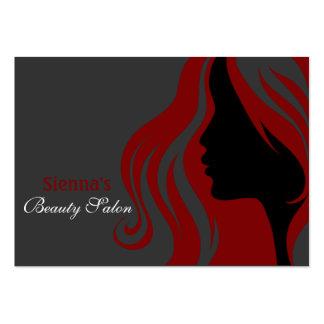 Tarjeta de la cita del peluquero (rojo oscuro) plantilla de tarjeta de visita