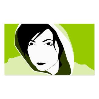 tarjeta de la cita: mirada fija de la verde lima tarjetas de visita