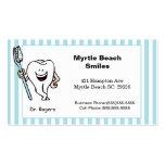 Tarjeta de la cita y de visita del dentista plantilla de tarjeta personal