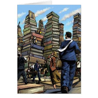 Tarjeta de la ciudad del libro