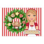 Tarjeta de la cocina del navidad #2 - SRF Tarjetas De Visita Grandes