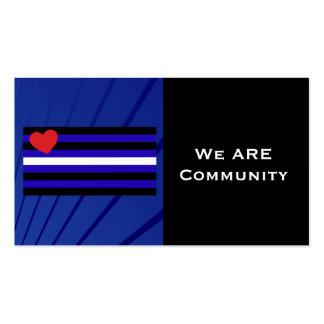 Tarjeta de la comunidad de la bandera de orgullo d plantilla de tarjeta personal