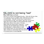 Tarjeta de la conciencia del autismo tarjeta de visita
