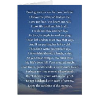 Tarjeta de la condolencia 2