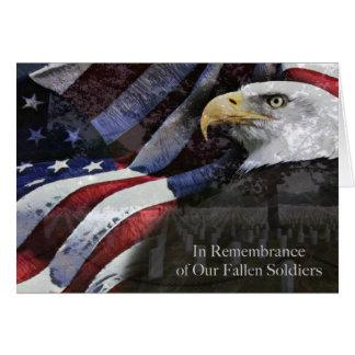 Tarjeta de la conmemoración del Memorial Day