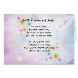 Tarjeta de la conmemoración para el bebé o el niño