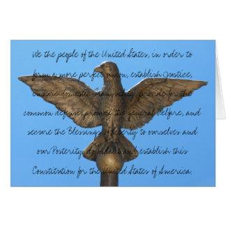 Tarjeta de la constitución para el uso durante