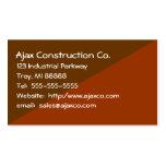 Tarjeta de la construcción para el contratista del plantilla de tarjeta de negocio