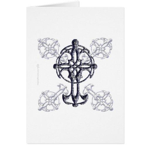 Tarjeta de la cruz céltica