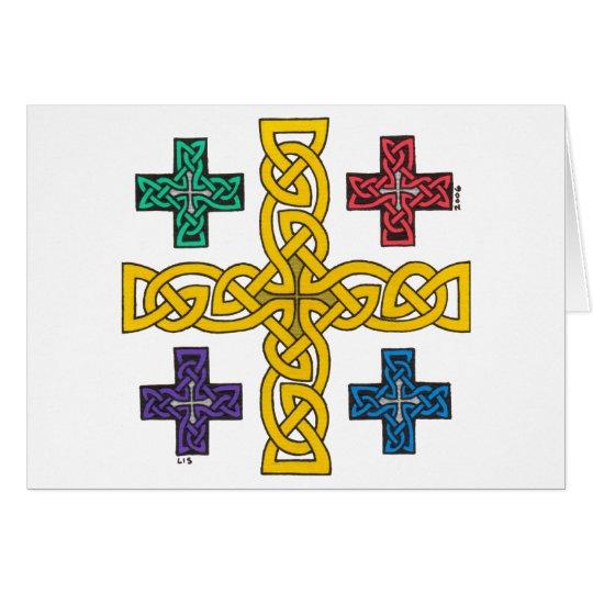 Tarjeta de la cruz de Jerusalén