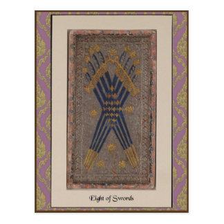 Tarjeta de la cubierta de Visconti Tarot - circa 1 Postales