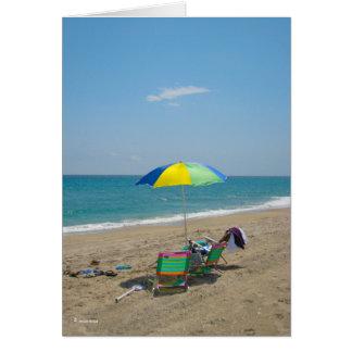 Tarjeta de la dicha de la playa