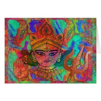 Tarjeta de la diosa Durga2