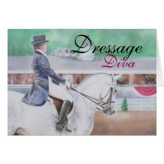 Tarjeta de la diva del Dressage