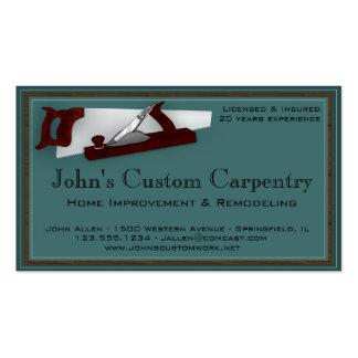 Tarjeta de la empresa de servicios de la carpinter tarjeta de visita