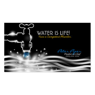 Tarjeta de la empresa de servicios de la fontanerí plantilla de tarjeta de negocio