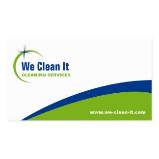 Tarjeta de la empresa de servicios de la limpieza plantillas de tarjetas de visita