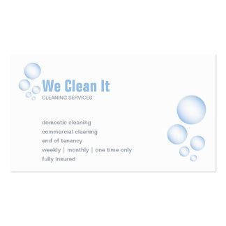 Tarjeta de la empresa de servicios de la limpieza tarjetas de visita